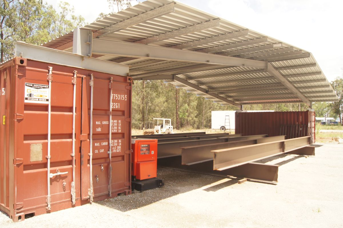 Construstion site container shelters